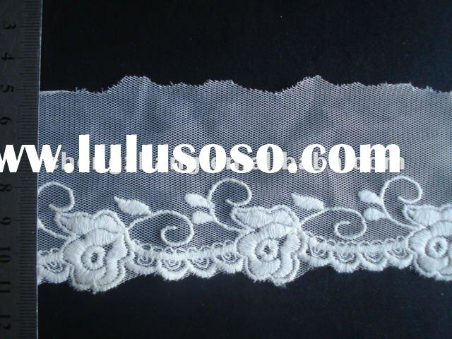 2012 embroidery tulle mesh lace