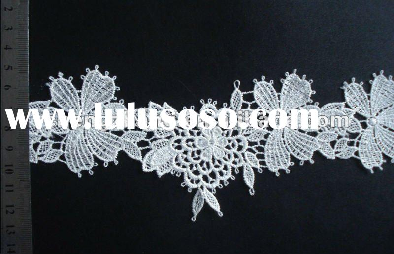 100% polyester embroidery lace trim