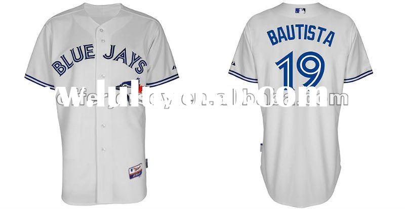 2012 Toronto Blue Jays Authentic Jerseys #19 Jose Bautista White Sports Baseball Jersey 48-56 Free +