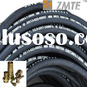 SAE100 R2AT 2SN high pressure 2 wire braided rubber hydraulic hose