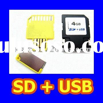 SD USB Double Card - Available in 512MB/1GB/2GB/4GB/8GB, SD USB Card 2-in-1 Combo USB SD Card
