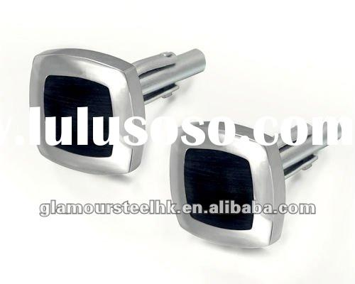 2012 Black Enamel fashion Men cuff link stainless steel fashion jewelry accessories