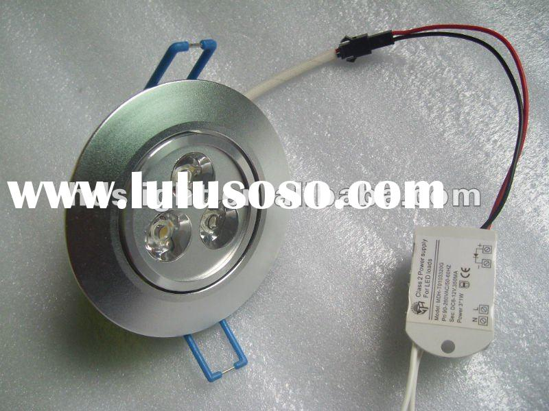 3x1w downlight 220v 110v dimmable high lumen 3years warranty