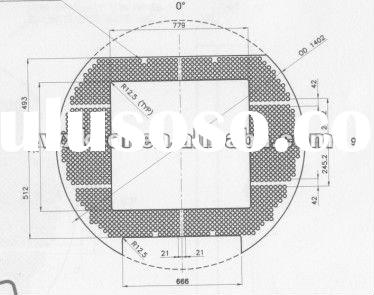 Alloy Steel Baffle Drawing for heat exchanger