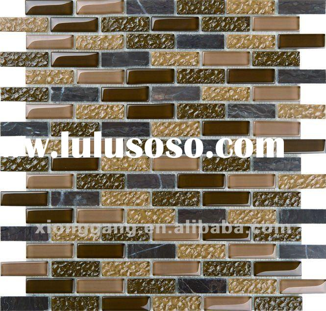 GS301 glass mix stone mosaic tile
