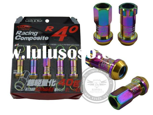 Project Kics R40 Open Ended Locking Lug Nuts Neo Chro