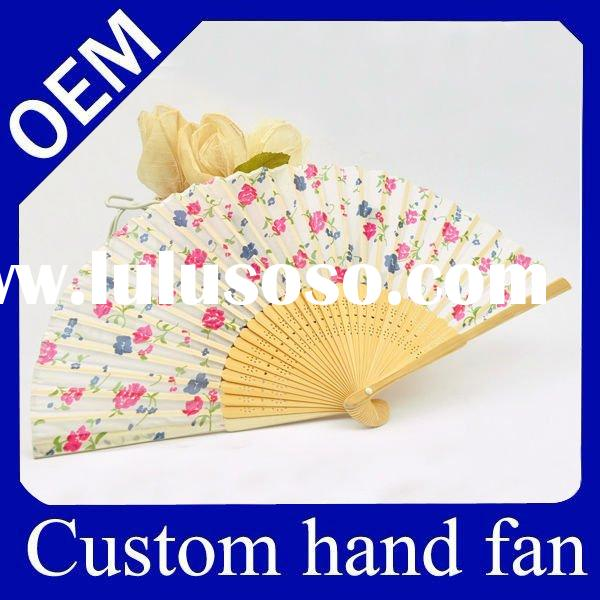 Vintage personalized paper folded fan for promotion gift