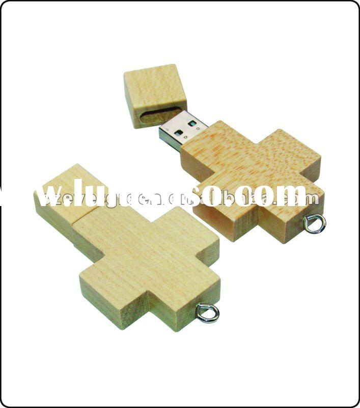 factory wholesale wooden cross usb flash drive , new cross usb disk