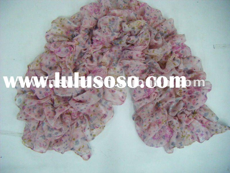 2012 NEW SPRING fashion voile scarf with elastic