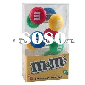 MM Candy SHOWER CURTAIN HOOKS HOT!