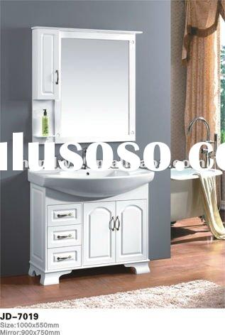 White oak wood bathroom vanity cabinet