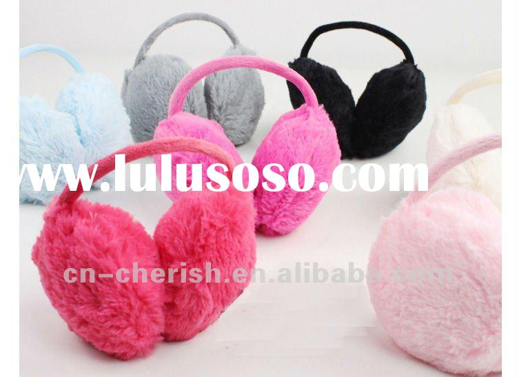 coral fleece plush winter earmuff/back wear