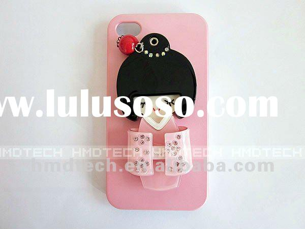3D Japanese Kimono Girl Mirror Back Cover for iPhone 4 Cell Phone Case