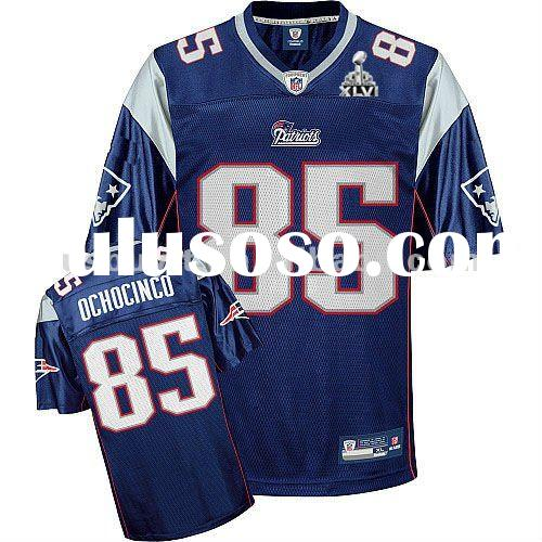 New England Patriots Super Bowl XLV jerseys #85 Chad Ochocinco Blue football jersey Mixed order Whol