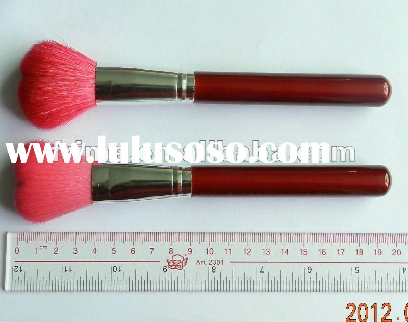 Red Heart Shaped Powder Brush