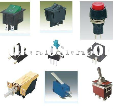 Tact switch ,Rocker Switch,Power switch and Push button switch;Toggle Switch;Micro Switch;Key Press