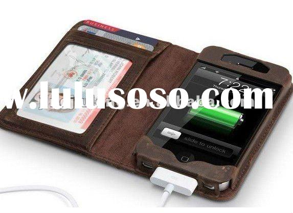 book style leather case for iphone4