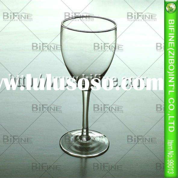 high quality clear white wine glass