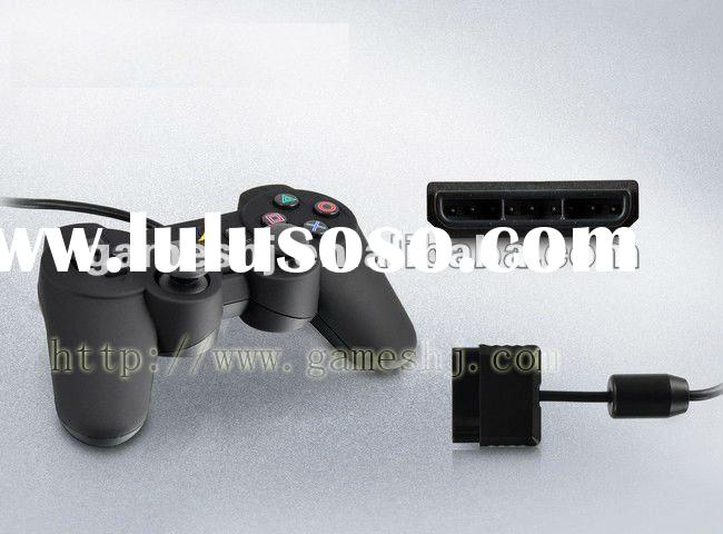GP-200 For PS2 twin shock game controller with double vibration gamepad with Rubber-Factory Selling