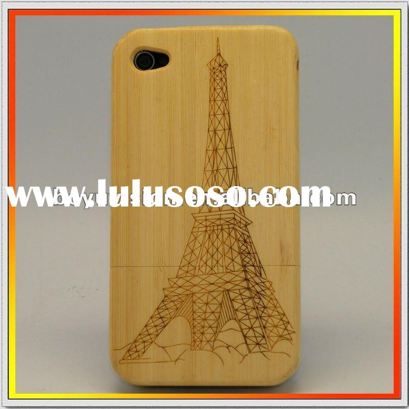 Natural bamboo materials to make wood case for iphone 4