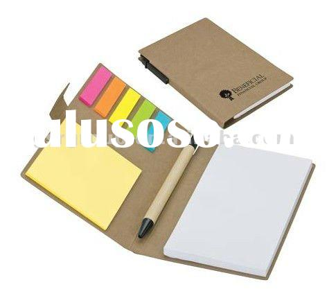ECO Notepad Set with Matching Color ECO Ball Pen