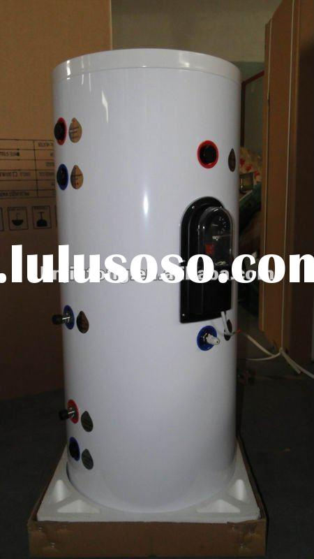 Split pressurized solar water heater tank/storage tank