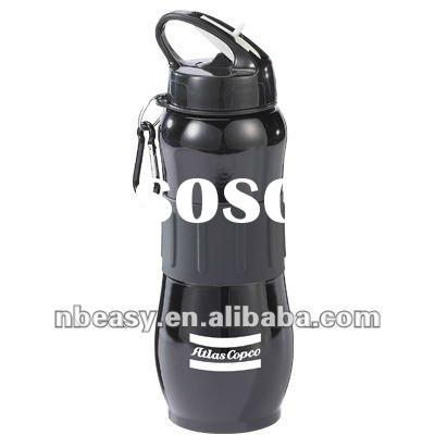 THE SUPER SIZE - EASY GRIP STAINLESS STEEL SPORT BOTTLE WITH SPOUT & CARABINER - 25OZ