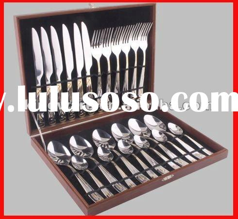 Wooden box for 16&24pcs stainless steel cutlery set