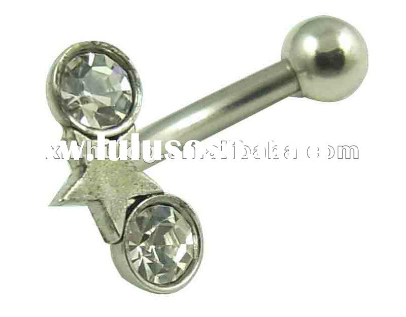 banana barbell body piercing jewley