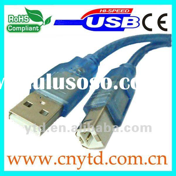 transparent blue usb printer cable type A to type B