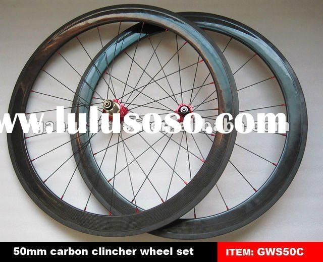 2012 high quality 50mm clincher carbon fiber bicycle wheels