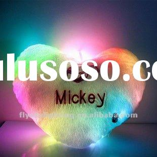 LED heart shape lighting cushion with music