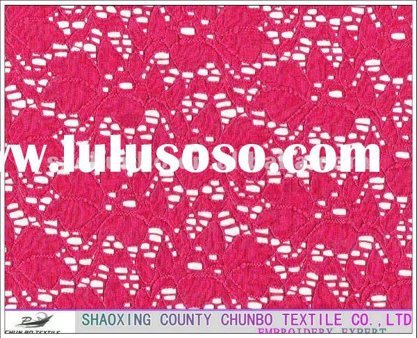 Raylon cotton lace fabric for women's cloths and fashion bag