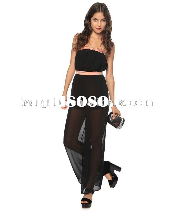 Sheer Bow Jumpsuit HFR006