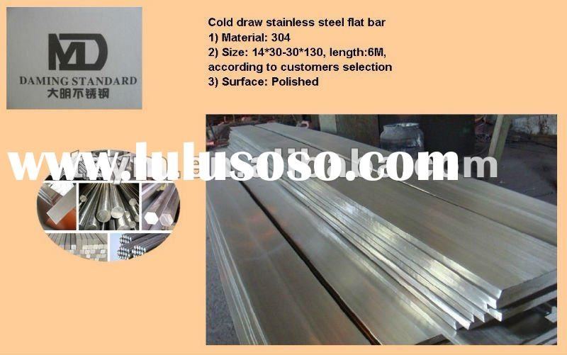 AISI ASTM 304 cold draw stainless steel flat bar