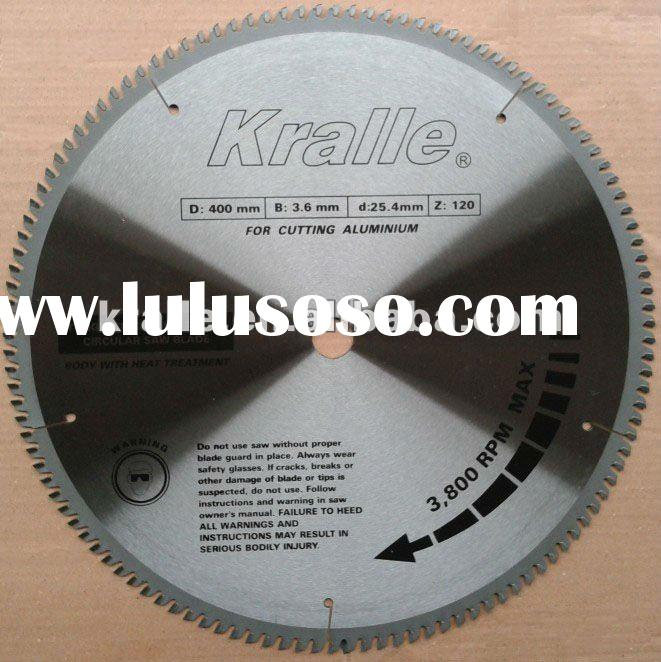 TCT circular saw blade for cutting aluminum(positive hook)