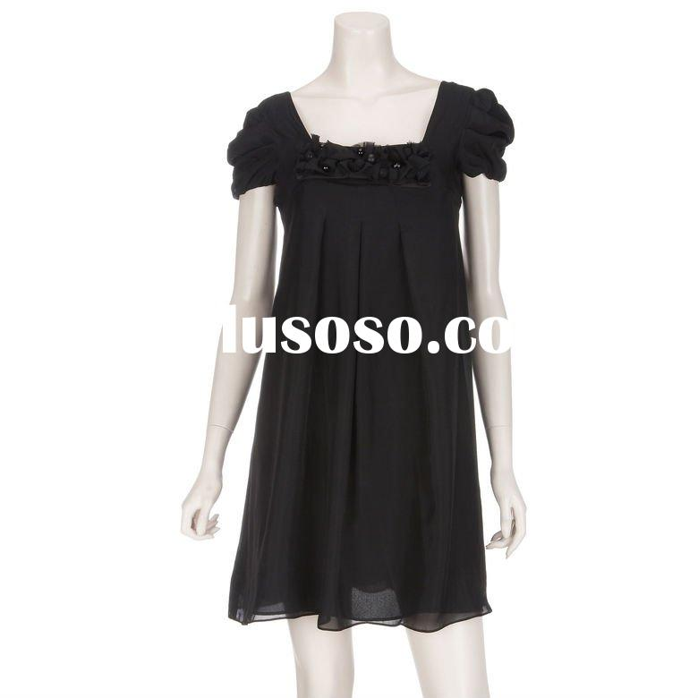 2012 new arrival Ladies fashion long-sleeve chiffon dress