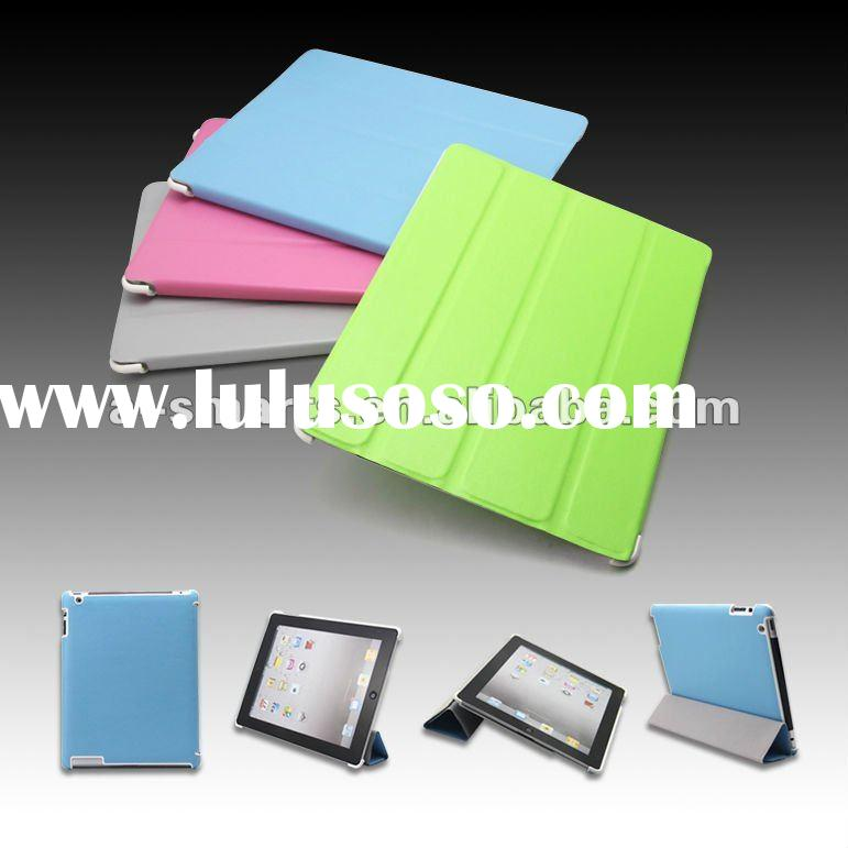 Different color leather case for Ipad 2