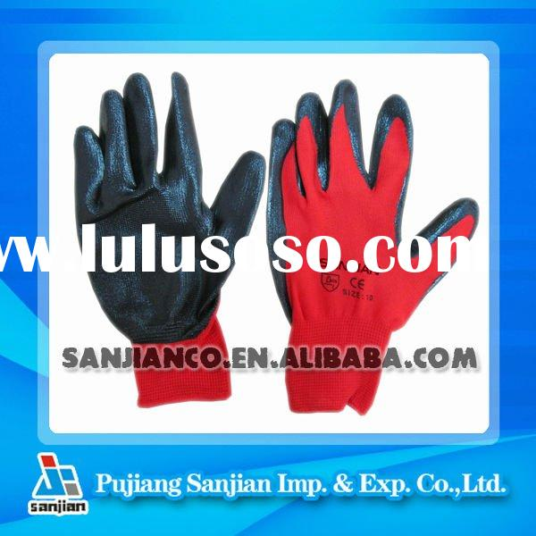 Nitrile Glove Nitrile coated Nylon Glove(PU PVC Rubber Latex Safety Work working)