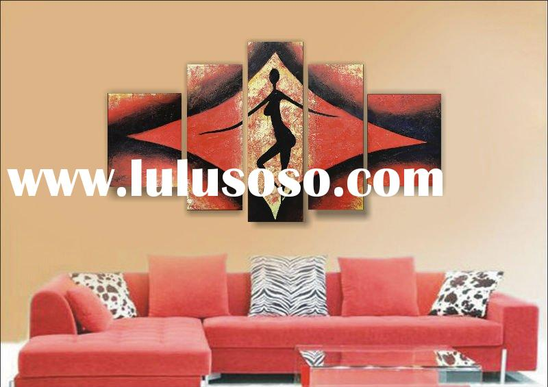 canvas group oil painting hang on the wall 2012 new design
