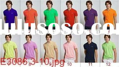 2011 wholesale top quality men's business polo shirt with lacoste cotton paypal