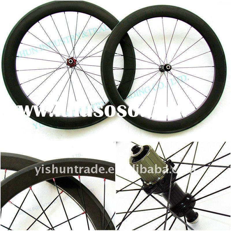 50 mm tubular carbon wheels with novatec carbon hub, carbon road bike wheels, 700C carbon bicycle wh