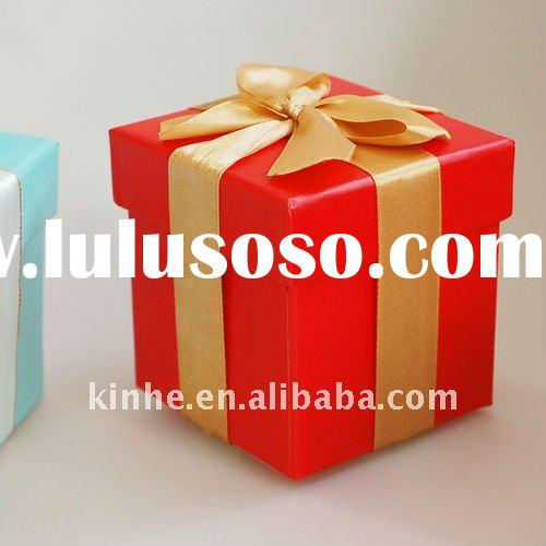 Attractive cube box for christmas decorative gift box