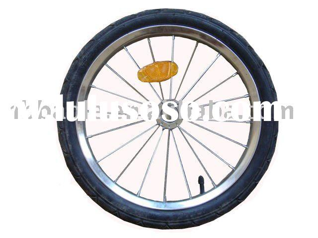Bicycle trailer wheel