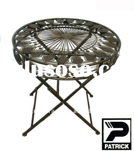 Bronze color rust proof metal folding coffee table