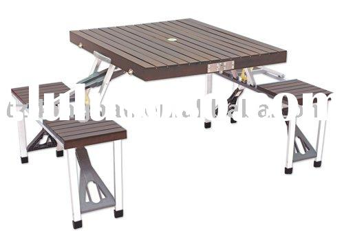 Fir wooden outdoor picnic.camping table DN-WT-01