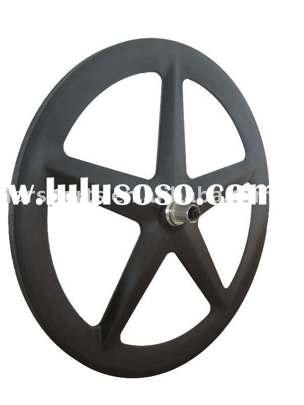 Full carbon 5 spoke wheel for road bicycle