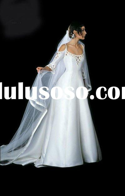 Pure handcraft Top-rated wonderful and charming 2012 long sleeve wedding dresses