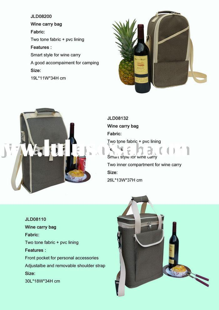 Wine cooler bag, wine carrier, wine holder, wine tote, cooler bag