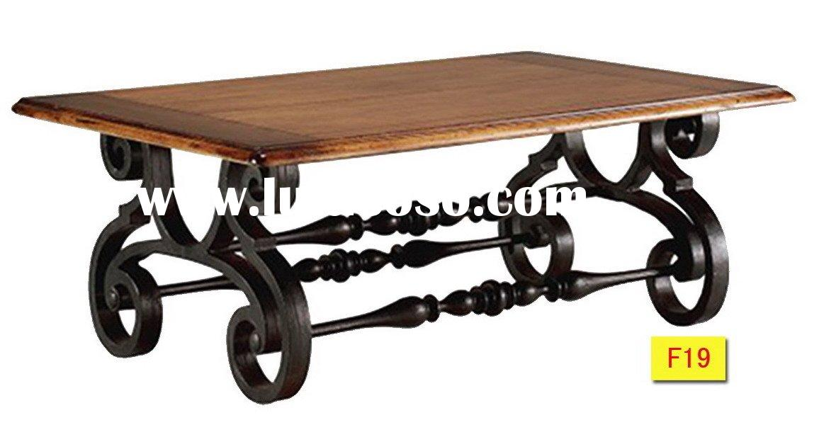 Wrought-iron coffee table